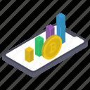 bar chart, business infographic, business statistics, data analytics, financial chart, mobile analytics icon