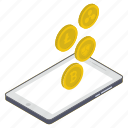 digital currency, online business, online earnings, online investment, online payment icon