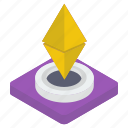 blockchain, cryptocurrency, digital currency, eth, ethereum, ethereum coin icon