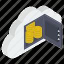 bank locker, bitcoin locker, bitcoin security, cloud computing, cloud technology, financial safety, savings bitcoin icon