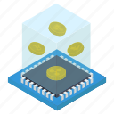 coins box, cryptocurrency box, digital currency, money box, money savings icon