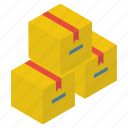 cardboard box, delivery box, logistic delivery, package, packet, parcel icon