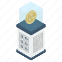 bitcoinchain, btc, coin box, cryptocurrency, digital currency, ripple coin icon