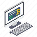 bitcoin payment, online bitcoin, online business, online cryptocurrency, online payment icon