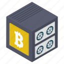 bitcoin box, bitcoin keeping, cryptocurrency box, money box, money savings icon