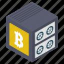 bitcoin box, bitcoin keeping, cryptocurrency box, money box, money savings icon