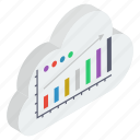 business growth, cloud computing, cloud technology, data analytics, growth chart, infographic, statistics icon