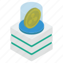 bitcoinchain, coin box, cryptocurrency, digital currency, ripple coin icon