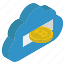 bitcoin network, blockchain, cloud computing, cloud hosting, cloud technology, cryptocurrency network icon