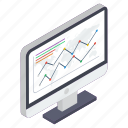 business graph, business growth, business infographic, business statistics, data analytics icon
