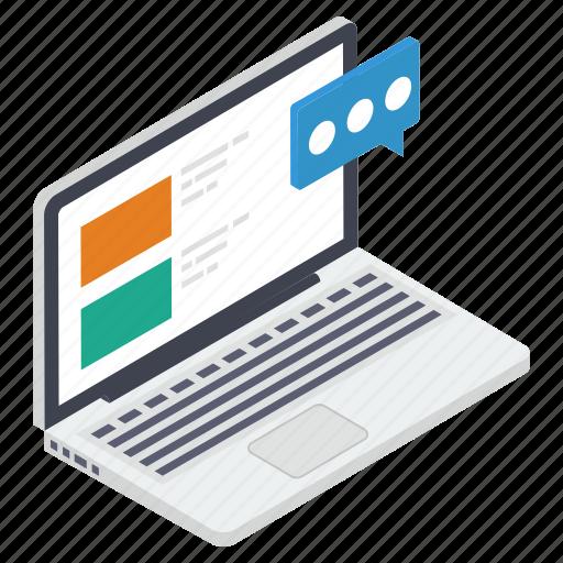 forum discussion, internet communication, online communication, online conversation, online discussion icon