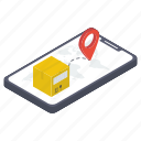 cargo tracking, delivery tracking, mobile tracking, parcel tracking, shipment tracking icon