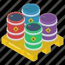 gasoline, natural gas, oil barrel, oil cylinder, oil drum icon
