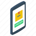 mobile cargo, mobile purchasing, online delivery, online order, order booking icon