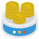 bitcoins, capital, coins pile, coins stack, currency, money stack, ripple coins icon
