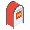 letterbox, mail slot, mailbox, post box, postal services icon