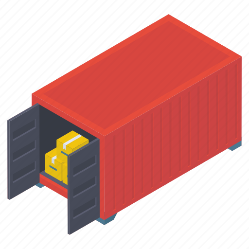 cargo loading, container, container loading, freight container, logistics, shipping container icon