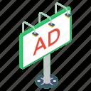 ad board, advertisement board, advertising billboard, advertising campaign, advertising signboard icon