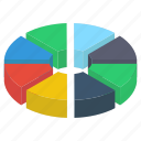 business graph, business growth, data analytics, growth chart, pie chart, pie graph icon