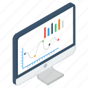 business graph, business growth, business infographic, business statistics, online data analytics icon
