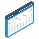 business analytics, business infographic, business statistics, online data analytics, web analytics icon