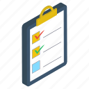 checklist, documents, list, plan list, task list, todo list icon