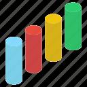 bar chart, bar graph, business chart, business graph, data analytics icon