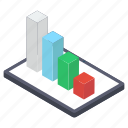 bar chart, business infographic, business statistics, mobile analytics, online data analytics icon