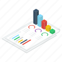 analytical report, business infographic, business report, business statistics, data analytics icon