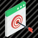 digital marketing, online target, targeted website, web goal, web marketing, website goal icon