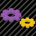 cog, cogwheel, configuration, gear, setting icon