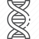 biology, dna, education, genetics, molecule, research, science icon
