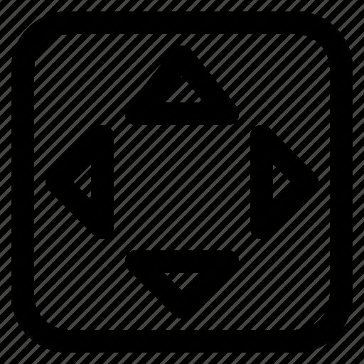 arrows, control, direction, move, setting icon