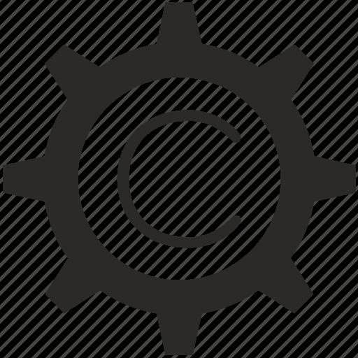 c, gear, key, keyboard, letter icon