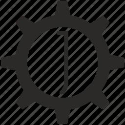 gear, j, key, keyboard, letter icon