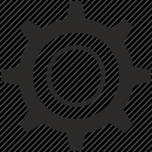 gear, key, keyboard, letter, o icon