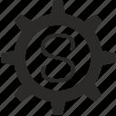 gear, key, keyboard, letter, s icon