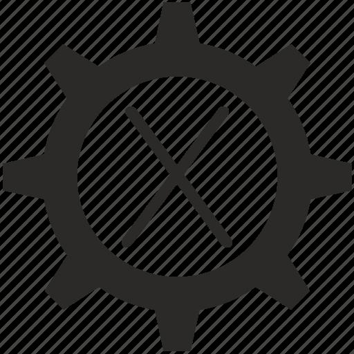 gear, key, keyboard, letter, x icon