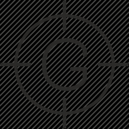 g, key, keyboard, letter, settings icon