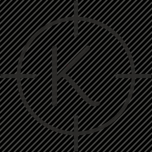 k, key, keyboard, letter, settings icon