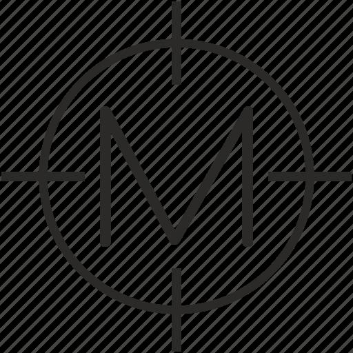 key, keyboard, letter, m, settings icon