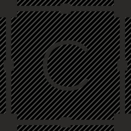c, key, keyboard, letter, transform icon