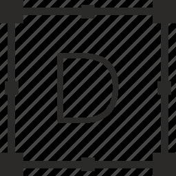 d, key, keyboard, letter, transform icon