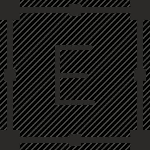 e, key, keyboard, letter, transform icon