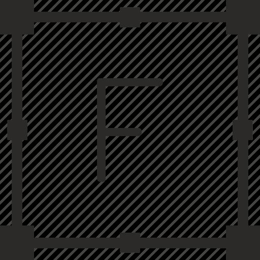 f, key, keyboard, letter, transform icon
