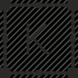k, key, keyboard, letter, transform icon