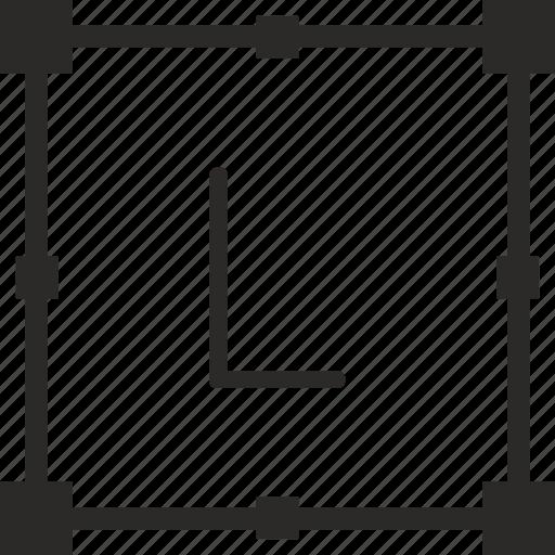 key, keyboard, l, letter, transform icon