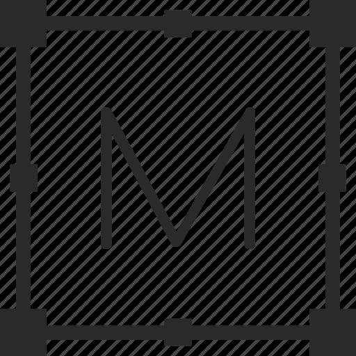 key, keyboard, letter, m, transform icon