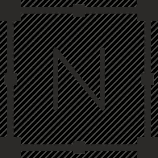 key, keyboard, letter, n, transform icon