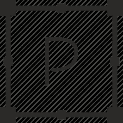 key, keyboard, letter, p, transform icon